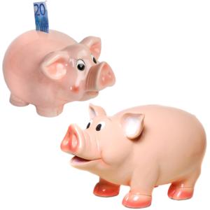 Rosa Sparschweine von klein bis XXL