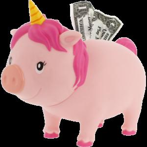 Einhorn pink Sparschwein LILALU