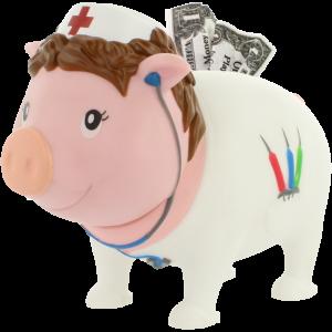 Krankenschwester Sparschwein LILALU