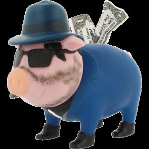 Mafioso Sparschwein LILALU
