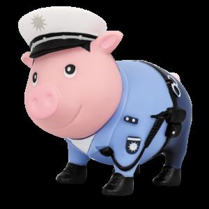 Sparschwein Polizist LILALU