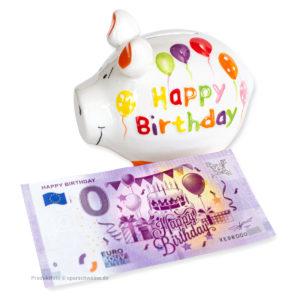 kcg-sparschwein-happy-birthday-mit-0 euro-schein