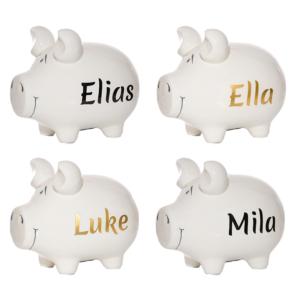 Sparschweine mit Namen