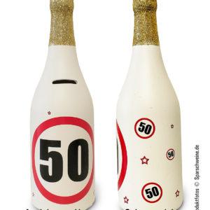 Sparflasche 50 Geburtstag